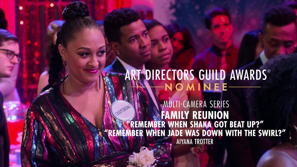 Family Reunion is nominated for Multi-Camera Series at the 25th Annual ADG Awards!