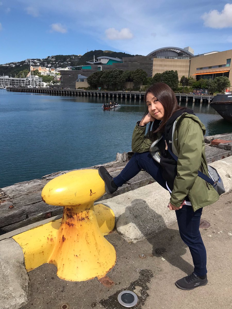 #TBT  Naoko, Just Standin' On The Dock of the Bay.  There's got to be a song inspiration there.🤔 🙂 #ShonenKnife #OtisRedding #SittinOnTheDockOfTheBay