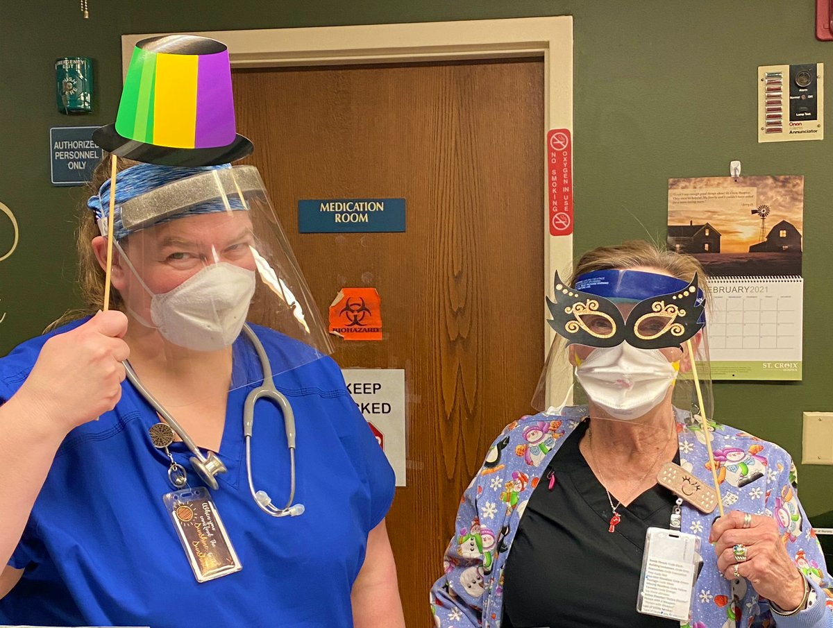 Part 2 of 2:   We had a great time celebrating Mardi Gras at #AzriaHealthCentralCity!   #AzriaHealth #MardiGras #Masks #Celebrate #Festive #FatTuesday
