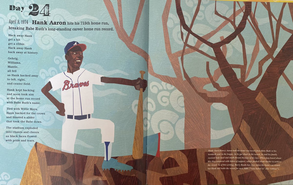 Day 24 and Day 25 shoutouts - Hank Aaron, Guy Bluford, and Mae Jemison! #RIPHank #HankAaron #GuyBluford #MaeJemison #BlackHistoryMonth We have one more day of shoutouts for Black History Month - I'll read/share final three tomorrow. Next up? Women's History Month! https://t.co/3gVXkDTyyc