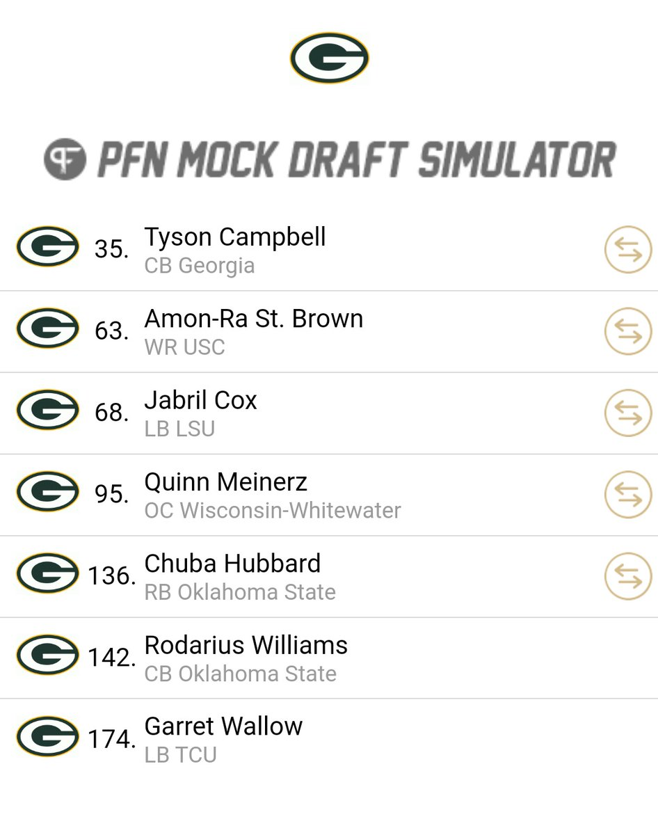 So I did a thing.. (traded for lots of picks to pay homage to the late Ted Thompson) #NFLDraft2021 https://t.co/cjRRTrKz6r