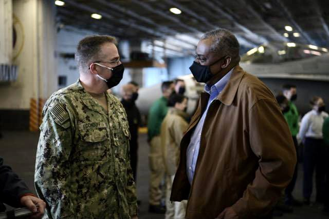 I just couldn't be more proud of the women and men of USS Nimitz for their hard work and dedication over the last ten months. What they have endured and accomplished is an example of the best the U.S. military has to offer. From all of us: Welcome Home.