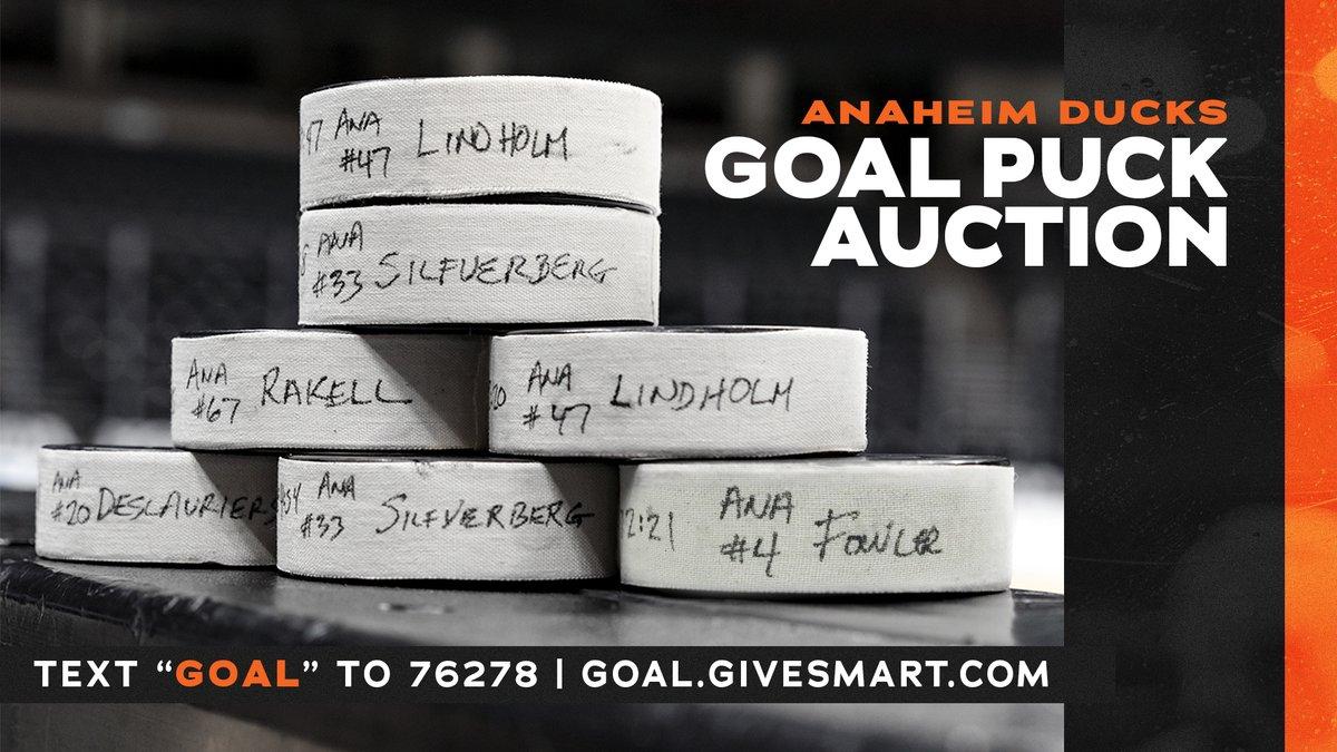 Only 2 hours left to bid on goal pucks! Ends at 7 p.m. PT. ➡️ goal.givesmart.com #FlyTogether