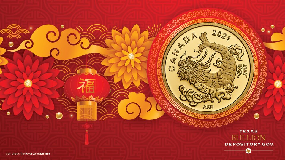 .@CanadianMint created this gold coin to depict a carp successfully jumping the Dragon Gate and transforming into a powerful golden dragon. Inspired by a Chinese proverb, this coin represents triumph over adversity. #ChineseNewYear