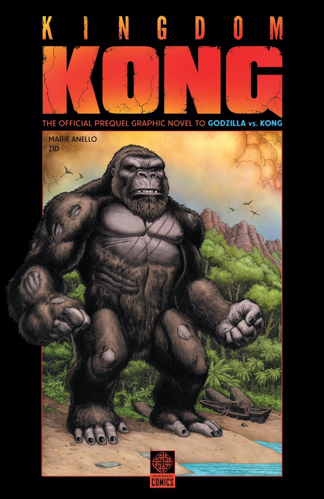 Here's an exclusive first look at 3 new @GodzillaVsKong graphic novel covers from @LegendaryComics! Godzilla Dominion and Kingdom Kong are prequels leading up to the big showdown! Titanthology combines Godzilla: Aftershock and Skull Island: Birth of Kong for the 1st time ever!