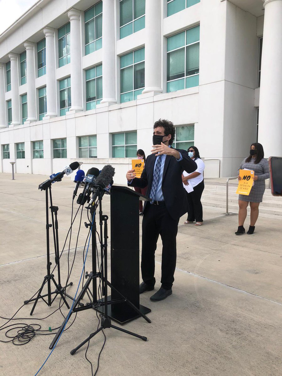 Proud to stand with colleagues in opposition of the reopening of a detention camp for migrant children in Homestead. This facility symbolizes some of the worst of the Trump era immigration policies and the last thing we need is to go back to the for-profit detention of children.