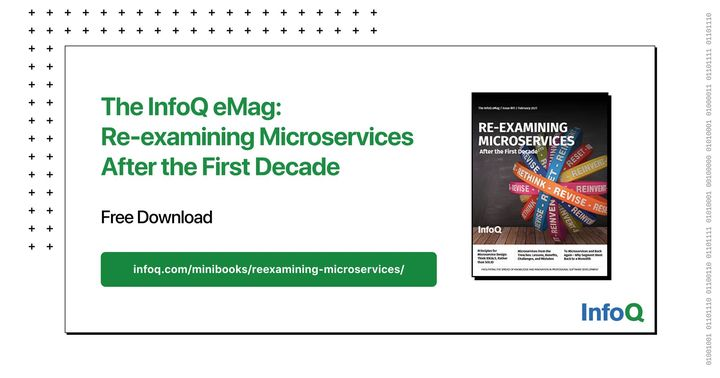 """If you are considering migrating to a #microservices approach, be ready to take some notes about the lessons learned, mistakes made, and recommendations from experts. Download """"The InfoQ eMag: Re-examining Microservices After the First Decade"""" for free: bit.ly/3qKELTV"""