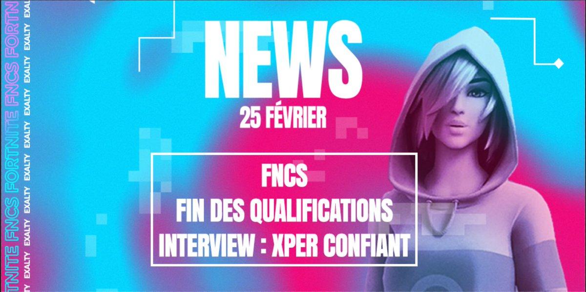#FORTNITE 🔫  Les qualifications aux #FNCS se poursuivent et arrivent à leur terme 👊  Pour cette occasion, @niclsvrg est allé interviewer @XpeR_ftn, le joueur Exalty qui a su jouer des coudes et se positionner en haut de tableau !  ⭐️Découvrez tout ici :