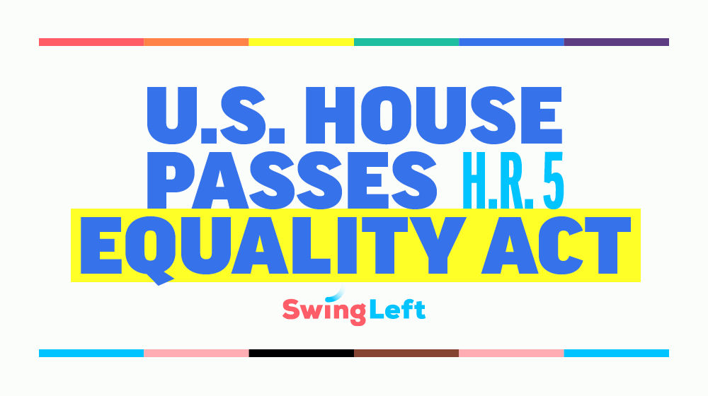 The House has passed the #EqualityAct, the most sweeping LGBTQ+ anti-discrimination bill in history! Now it heads to the Senate. 🏳️‍🌈🏳️‍⚧️