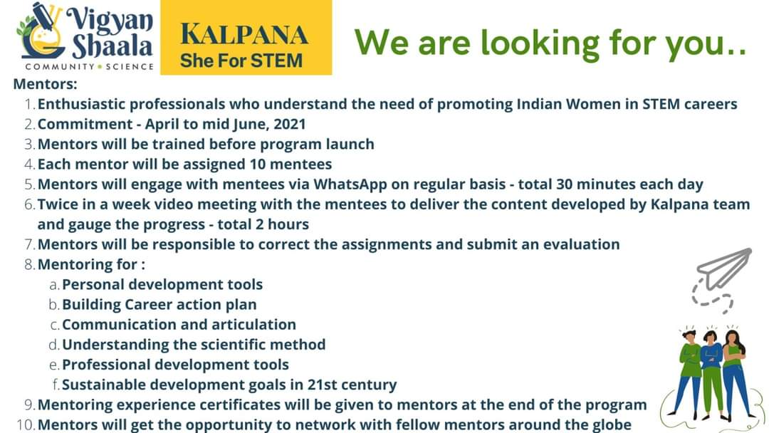#Volunteer to promote #STEMeducation among women in #India.