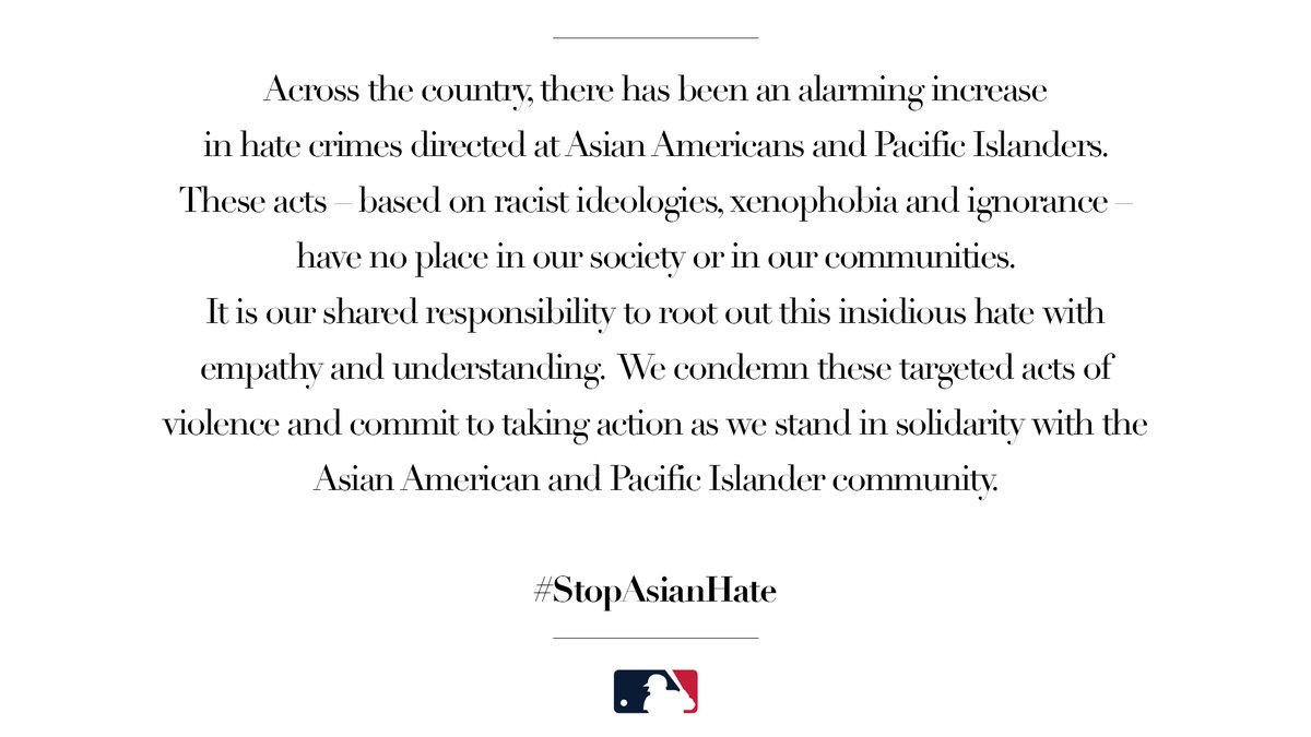 We stand with the Asian American and Pacific Islander community. #StopAsianHate