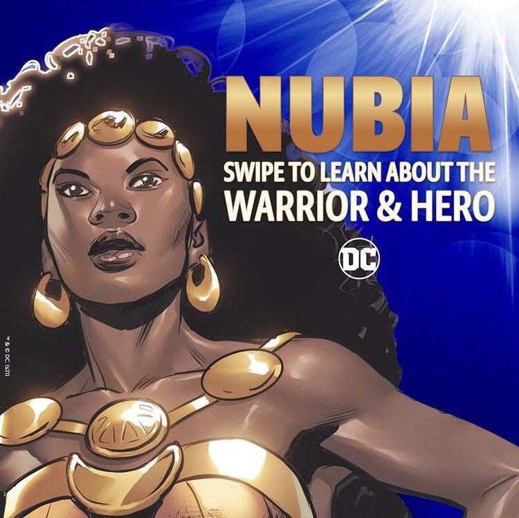 @DCWonderWoman just dropped this awesome post about Nubia on IG! 👑💙✨#BlackHistoryMonth  @DCComics #DCSuperheroes