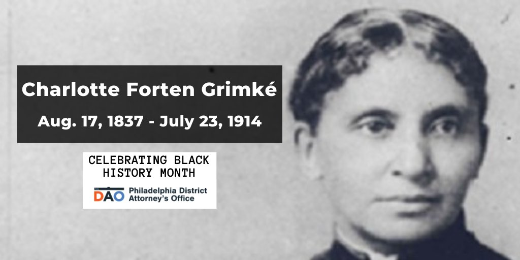 Philly native & abolitionist Charlotte Forten Grimké taught emancipated people in South Carolina & also fought for women's suffrage. Her journals, which offered a rare perspective on post-Civil War America, were published in 1988. #BlackHistoryMonth