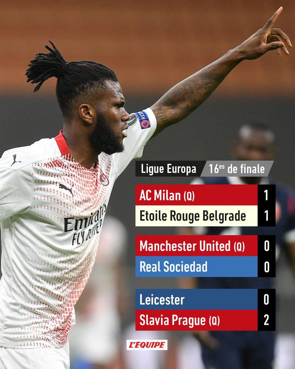 Milan qualifié dans la difficulté, Leicester éliminé.  Tous les résultats :