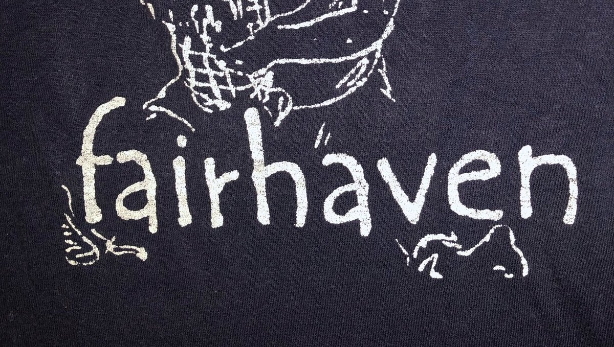 The Fair Haven logo from tshirt(s) made in my apartment back in the day   #photooftheday #gig #guitarist #livemusicphoto #blackandwhite #picoftheday #audioloveofficial #blackandwhitephotography #rockmusic #instamusic #rockband #concerts #newmusic #concertphotos #bands #metalmusic