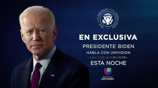 Entrevista exclusiva con el presidente @JoeBiden @POTUS y la primera dama @DrBiden @FLOTUS.   📌 HOY a las 6:30PM ET / 5:30C con @IliaCalderon.