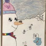 Image for the Tweet beginning: These snowmen on the wall