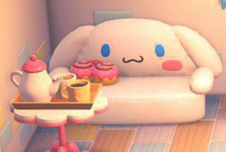 what if we kissed 🙊😳 on the animal crossing new horizons cinnamoroll couch 🤭🧡 and we were both girls 😩👉🏻👈🏻