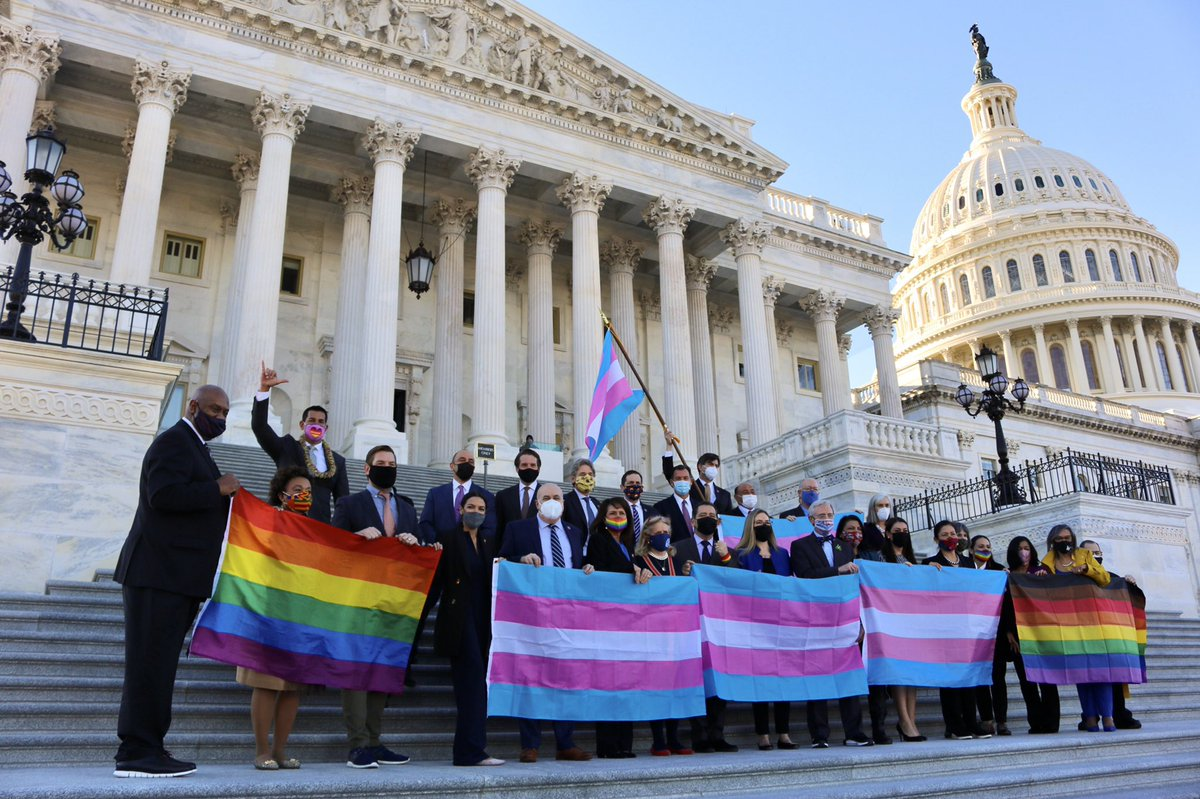 Today, we passed the #EqualityAct  I was proud to vote yes and I am proud to fight for for a future where every LGBTQ+ person is equal in the eyes of the law.