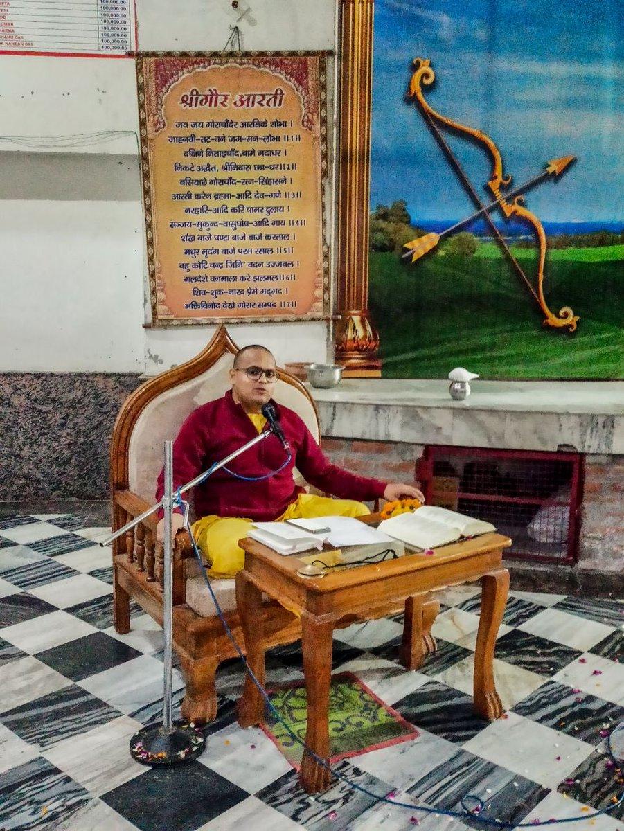 Katha by HG Nitai Prassan das prabhuji, #Nityananda #Triyodasi #celebrations on 25th February 2021 at #Iskcon #Aligarh #Gita #Gyan #Mandir, #Harduaganj. Photography courtesy of Mannraj Prabhuji. #APNA #SAHAYOGI #PREMI #PARIVAR. #अपना #सहयोगी #प्रेमी #परिवार |
