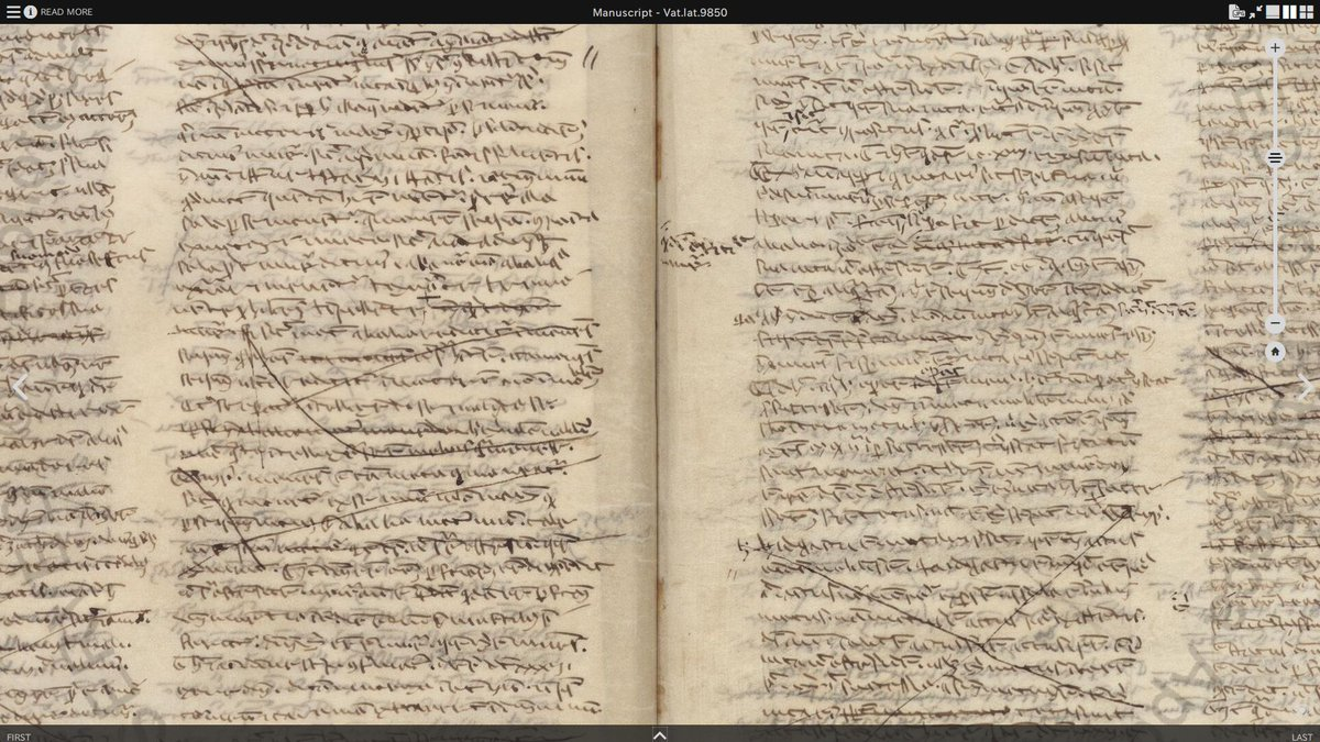 Hard to resist tweeting this: handwriting of Thomas Aquinas from the Vatican.   Not very neat and organized 😉 #famousfriends #wednesdaythought