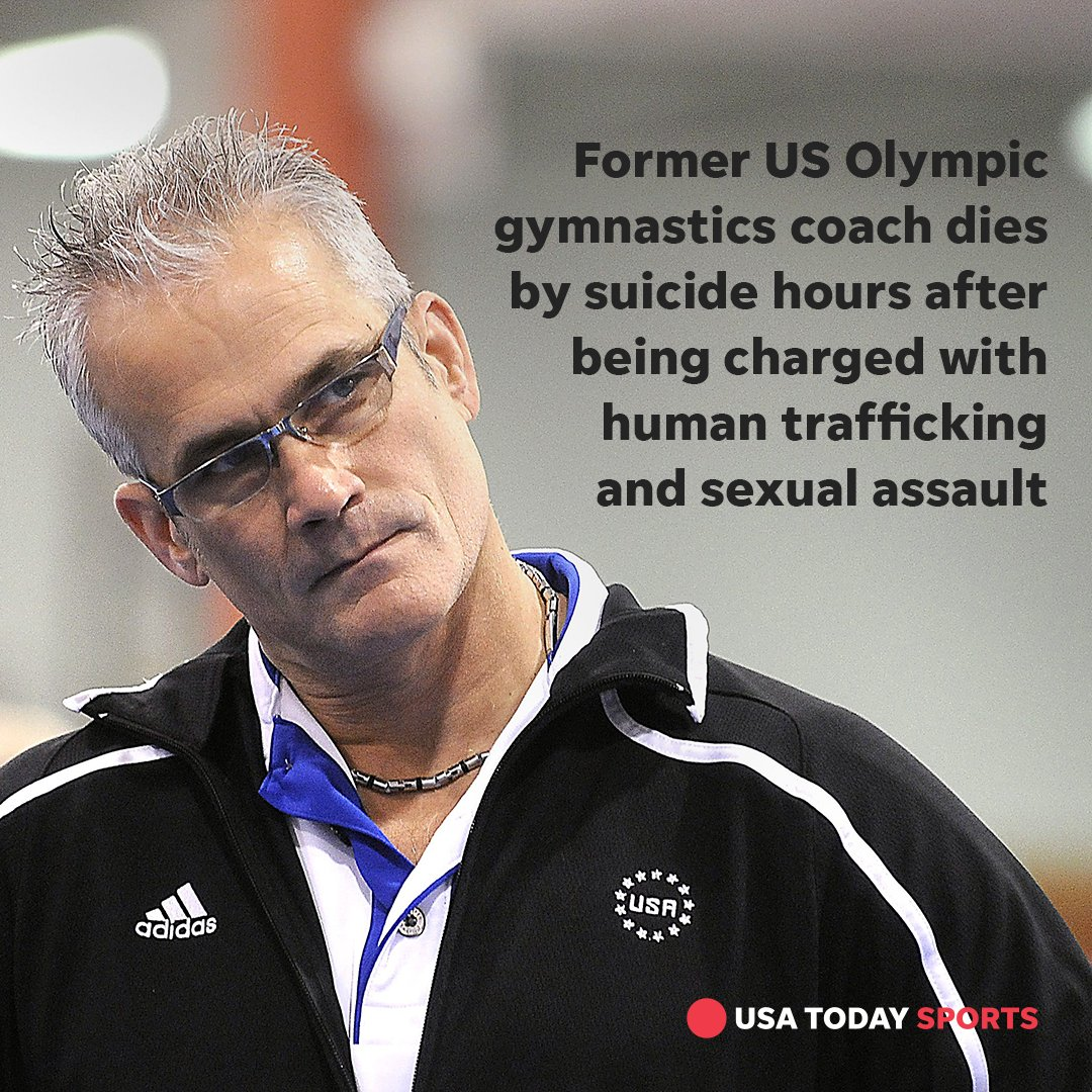 The Michigan Attorney General's Office has confirmed that former Olympics gymnastics coach John Geddert died by suicide.  Officials charged Geddert Thursday with 24 counts including human trafficking, sexual assault, racketeering and lying to police: