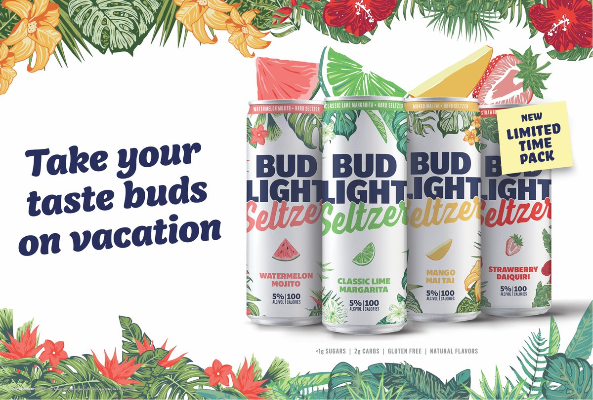 🌺Coming Soon🌺 Take your taste buds on vacation with the Bud Light Seltzer Out of Office Variety Pack!   #BudLightSeltzer #OutofOffice #TasteTimeOff
