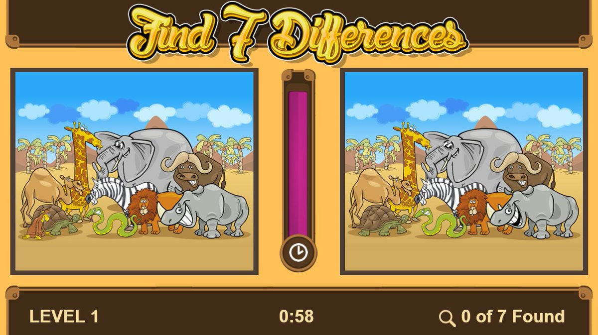Challenge your brain and develop better observation and perception skills with Find 7 Differences.The goal is to spot the 7 differences in two almost identical pictures.  #edtech #education #homeschool #Kyz   Click to assess the child =>