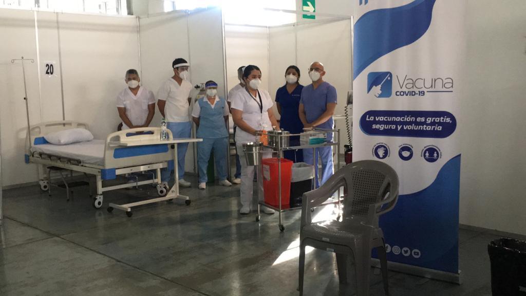 test Twitter Media - Esta será el área donde se aplicará la vacuna en breves momentos. Foto: José Orozco https://t.co/UcqapyVmYM