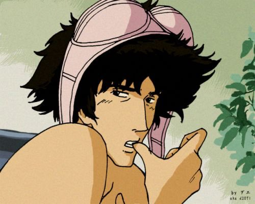 Oh spike this why we love you do much and I been want post this because to funny lol  #anime #CowboyBebop #SpikeSpiegel #Lol 🤣🤣🤣🤣🤣🤣