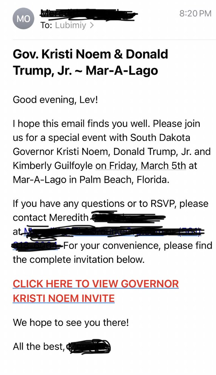 Unbelievable—just got an invite to Mar-A-Lago. If I showed up do you think Donald would still pretend not to know me? #LevRemembers