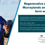 Join us for the Regenerative Agriculture Murraylands and Riverland farm walk in Tailem Bend on the 16 or 17 March - same event, two consecutive days. For more information and to register your attendance, go to: https://t.co/HvpRxWkvGG @AusLandcare