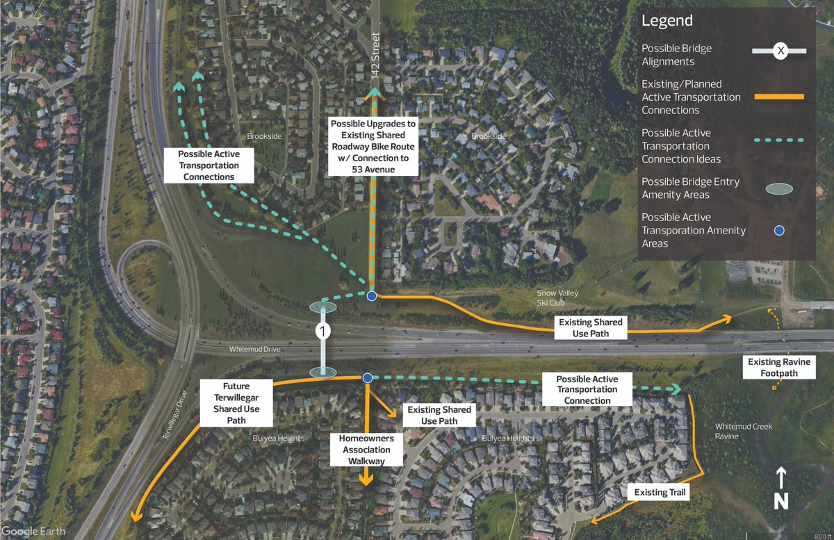 Shape the concept ideas for a NEW BRIDGE just for active modes (walking, rolling, cycling) in SW #yeg over the Whitemud Freeway. This fixes a major missing link! 🎉 1️⃣ week to share your thoughts! #yegwalk #yegbike Click the link - engaged.edmonton.ca/142-street-ped…