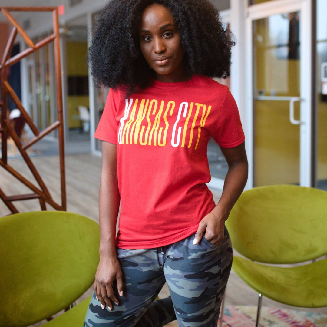 Pair our camo joggers  with the KC Original  t-shirt for a sporty look this weekend.  Online and at @madeinkc_    #stayontop #kclocal #madeinkc #sportista #sportsapparel #apparel #shopaholics  #currentlywearing #instastyle #styleinspo #shoplocalkc #kcchiefs #redandgold