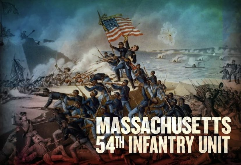 In honor of #BHM#ViacomCBSVetNet salute our Notable Black Veterans The 54th Massachusetts Infantry Regiment served in the Union Army during the #CivilWar the 2nd African-American regiment following the 1st Kansas Colored Volunteer Infantry Regiment organized during the Civil War https://t.co/mtpvME0uiF