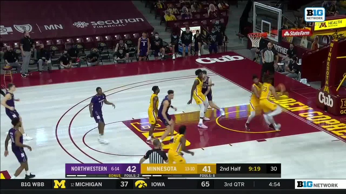 Replying to @MinnesotaOnBTN: Getting close to Marcus Carr time. ⌛  @GopherMBB re-takes the lead: