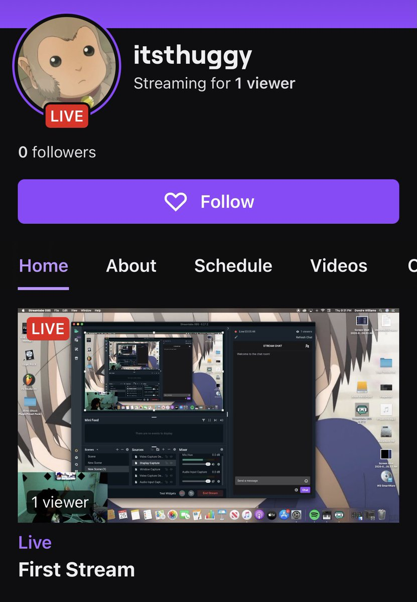 Follow me on twitch #itsthuggy #twitch #anime #gaming #rap #hiphop