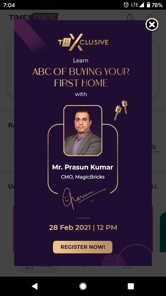 Looking forward to this one! @prasun1976 @magicbricks Learn all about home buying on this TPXclusive, RSVP here:   #TimesprimeSQUAD #TimesPrime