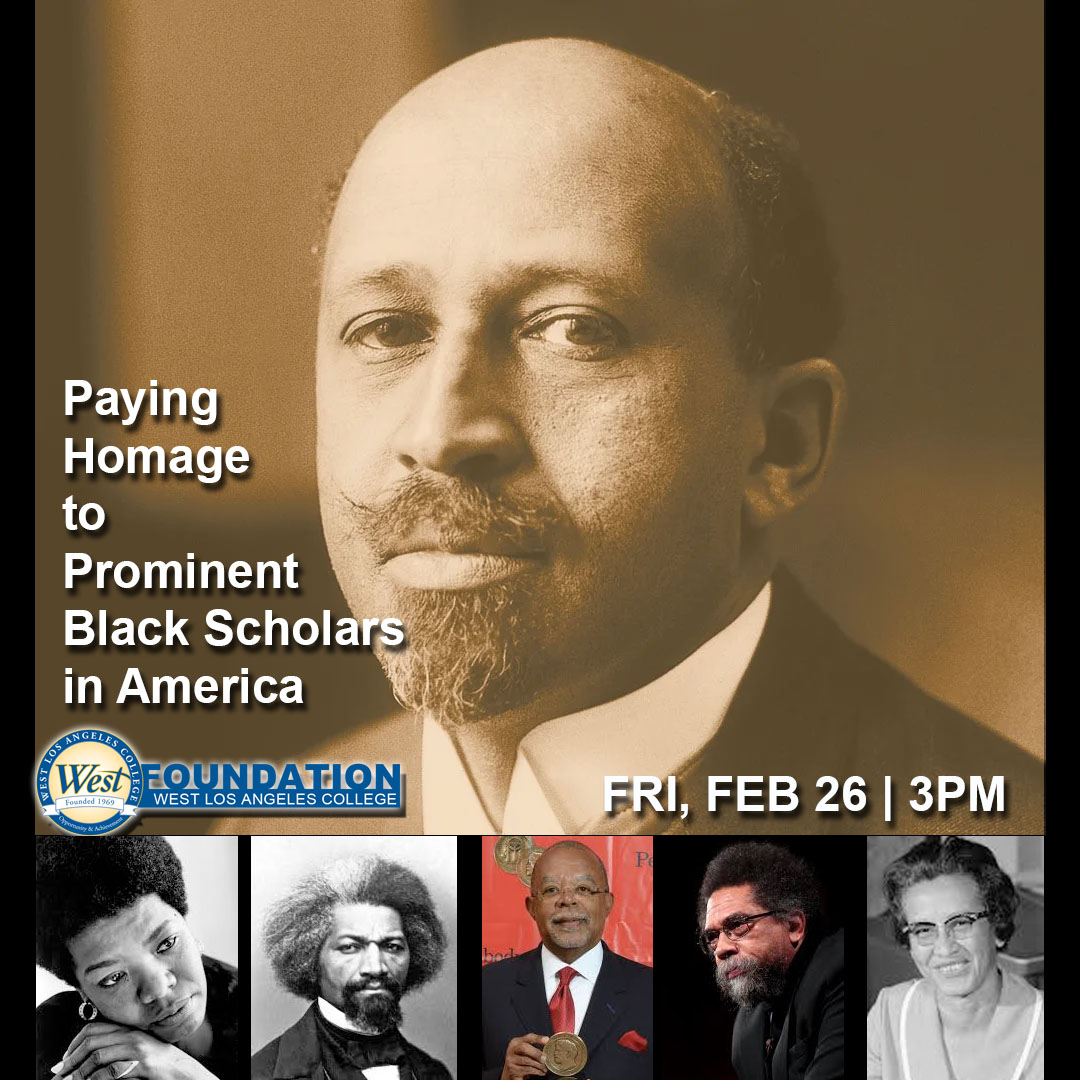 #BHM - See you TOMORROW at 3pm  - The #WestLACollege Foundation is hosting a an Homage to Prominent Black Scholars in America. Listen, learn and join the discussion at Zoom ID: 985 649 7413 https://t.co/cxqPBTEU9B