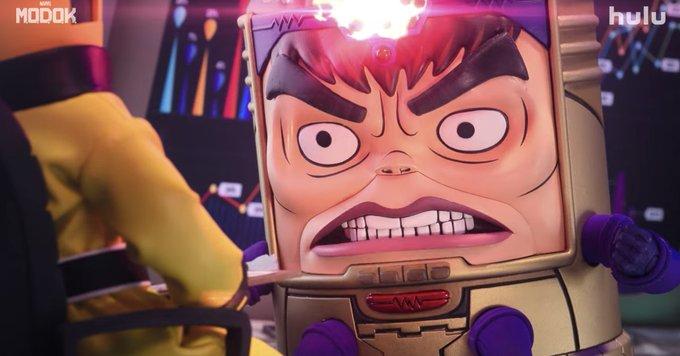Hulu's animated MODOK series looks like Robot Chicken meets Marvel Photo