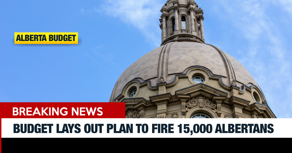 Instead of a plan to create jobs, this UCP government is recommitting to firing an additional 15,000 Albertans between now and 2023. #ableg #abbudget #abpoli #canlab