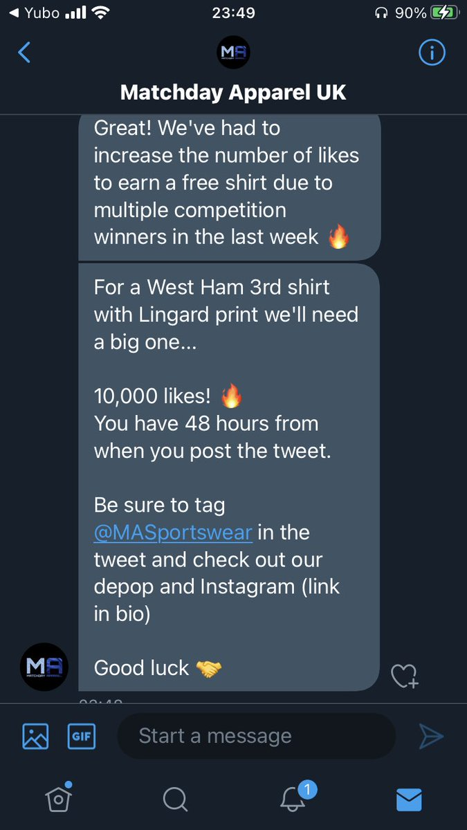 Never got over a lot of likes on a tweet but please, please help me guys!  @MASportswear thank you for the challenge!