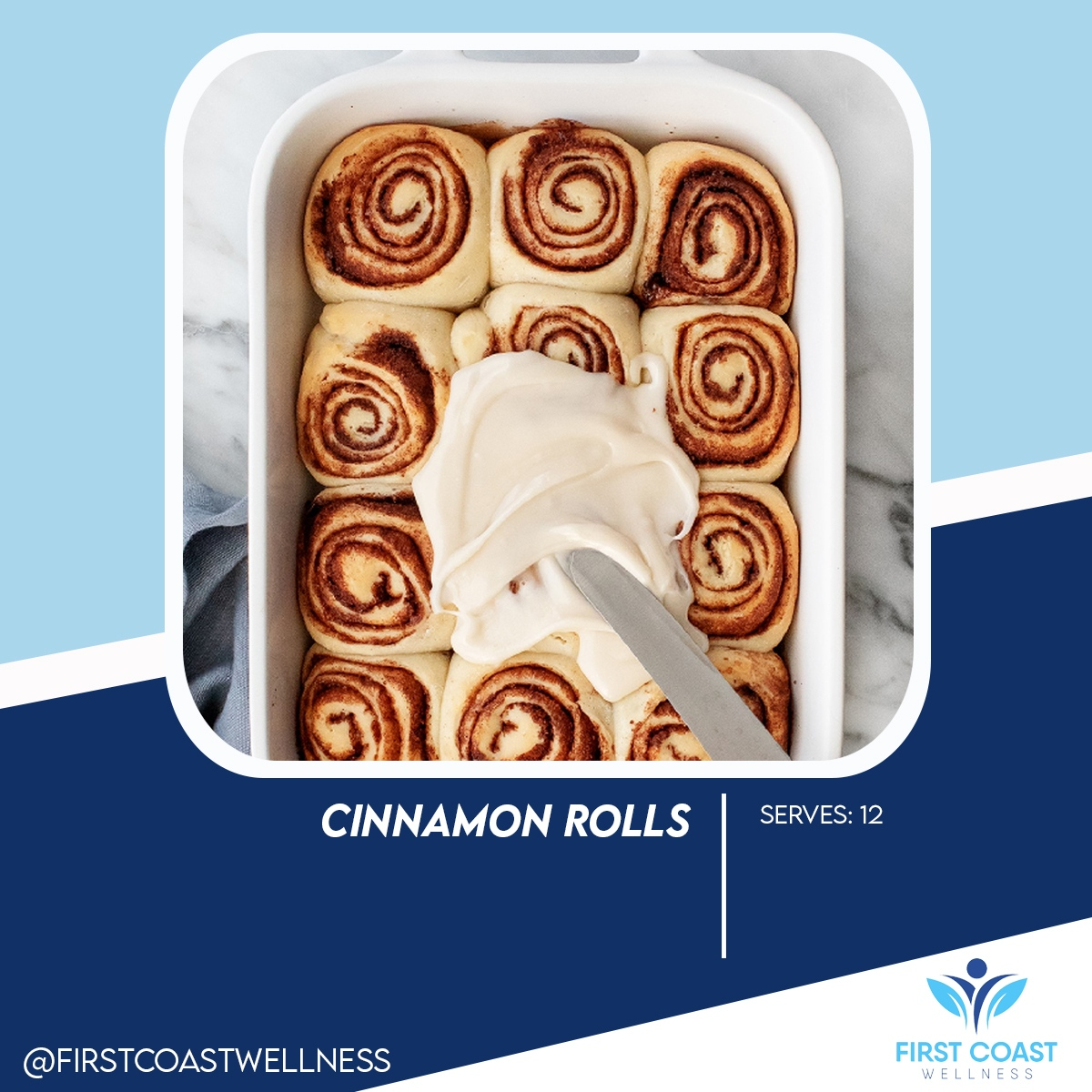 Want some Cinnamon Rolls for dessert? 😉 Here's the recipe for you! 👌 Follow us on Instagram @firstcoastwellness for more content like this ☑️  #fitness #gym #workout #fitnessmotivation #motivation #fit #bodybuilding #love #training #health #lifestyle #instagood #fitfam