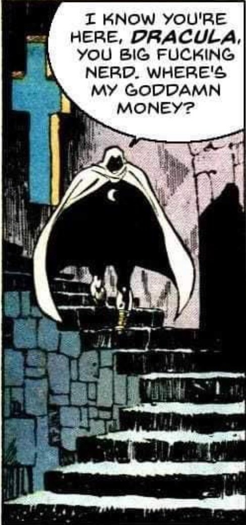 @UpToTASK I'm confident this meme is the most well known piece of Moon Knight content.