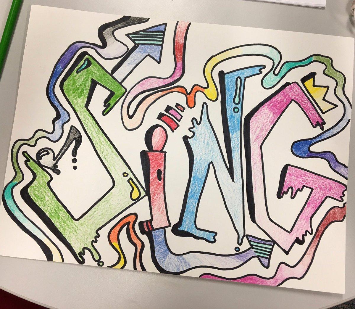 Graffiti Art Fun @Longbranch_Elem @MrsWallingART #misdproud