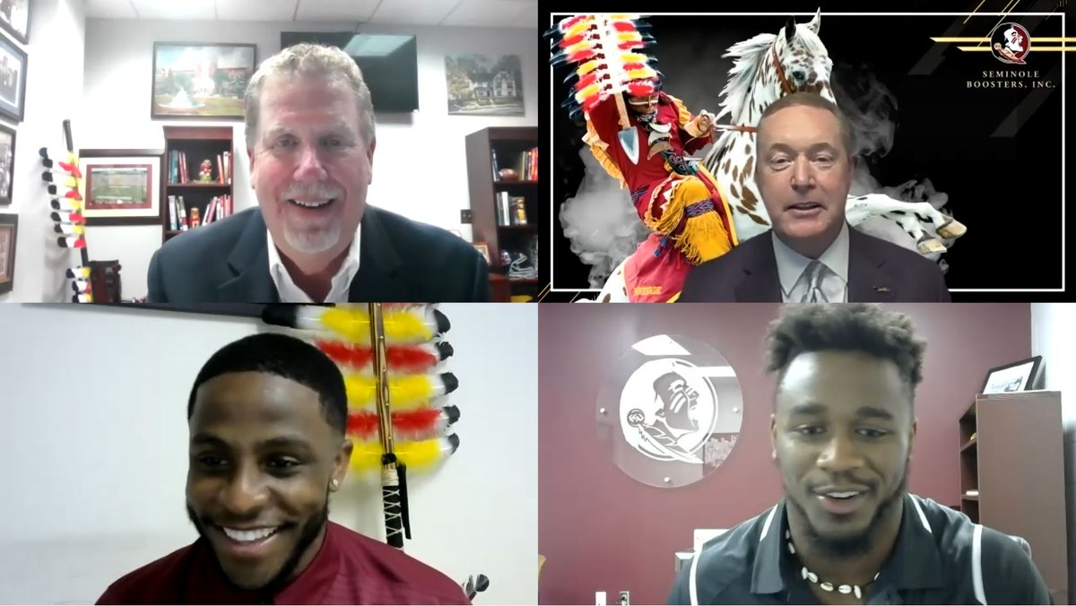 Thank you to our Seminole Booster Members who joined our virtual event tonight featuring Rob Wilson, @SeminoleAlford, @CaamMcd, and @AmariGainer! We had fun and look forward to doing more of these in the future! #GoNoles #OneTribe https://t.co/FxQqrDVuSD