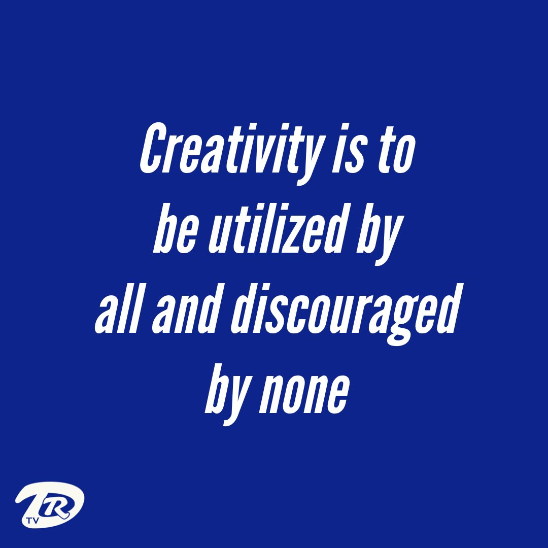 Creativity is to be utilized by all and discouraged by none. ~ Doc Reo  #Docisms #Creativity #Unity #Encouragement #GetInTheLab #Inspiration #DocReo #DocReoTV #DocReoRadio