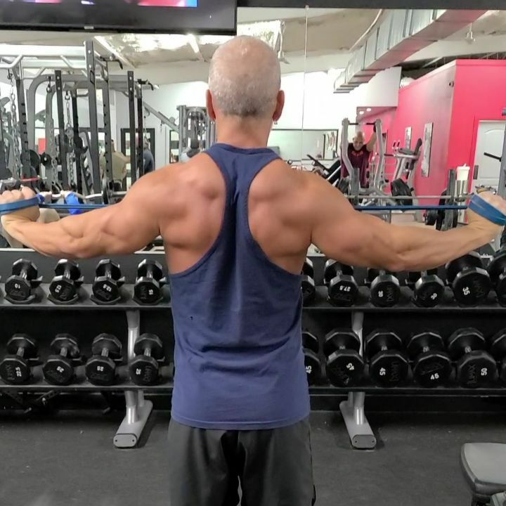 Video of the rear delt flys using just a band.  Great as part of a super set or as a finisher  #bodybuilding #fitatanyage #gymmotivation #gymrat #fitnessover50 #fitnessmotivation #gym #fitfam #naturalbodybuilding #fit_over_50 #fit #fitness #strength #hea…