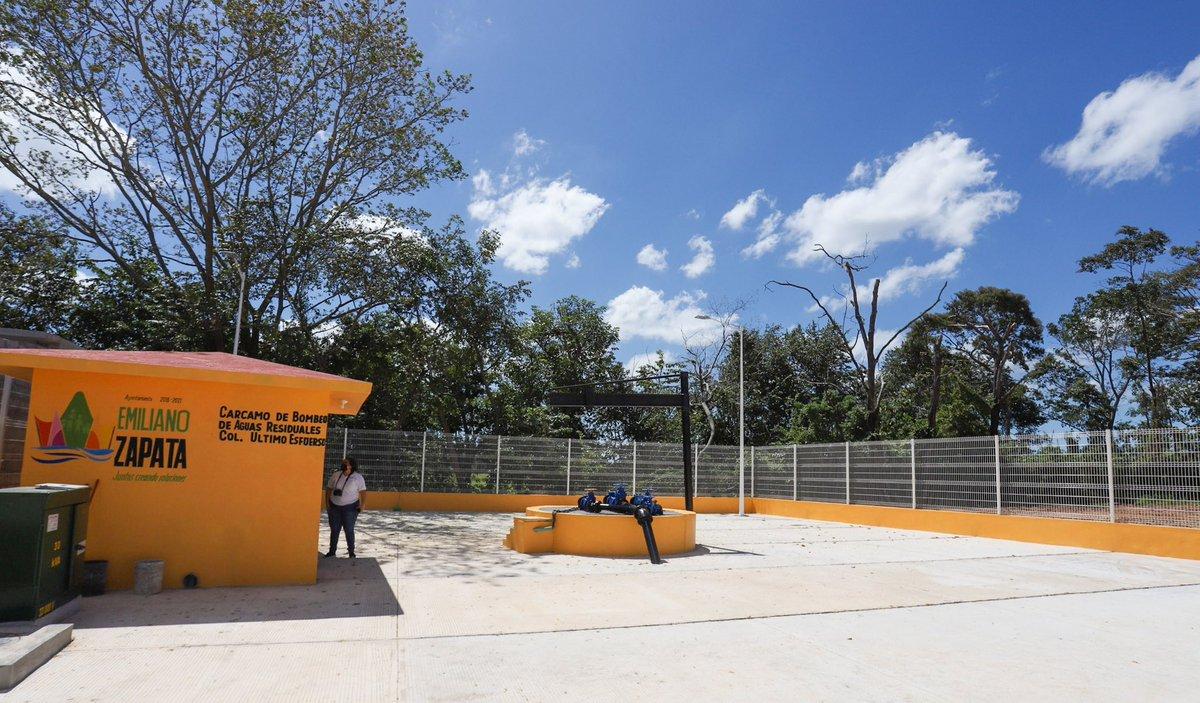 Construcción de Carcamo de Bombeo de aguas residuales en el municipio de Emiliano Zapata, colonia Último Esfuerzo. https://t.co/RkJqTm2rfS