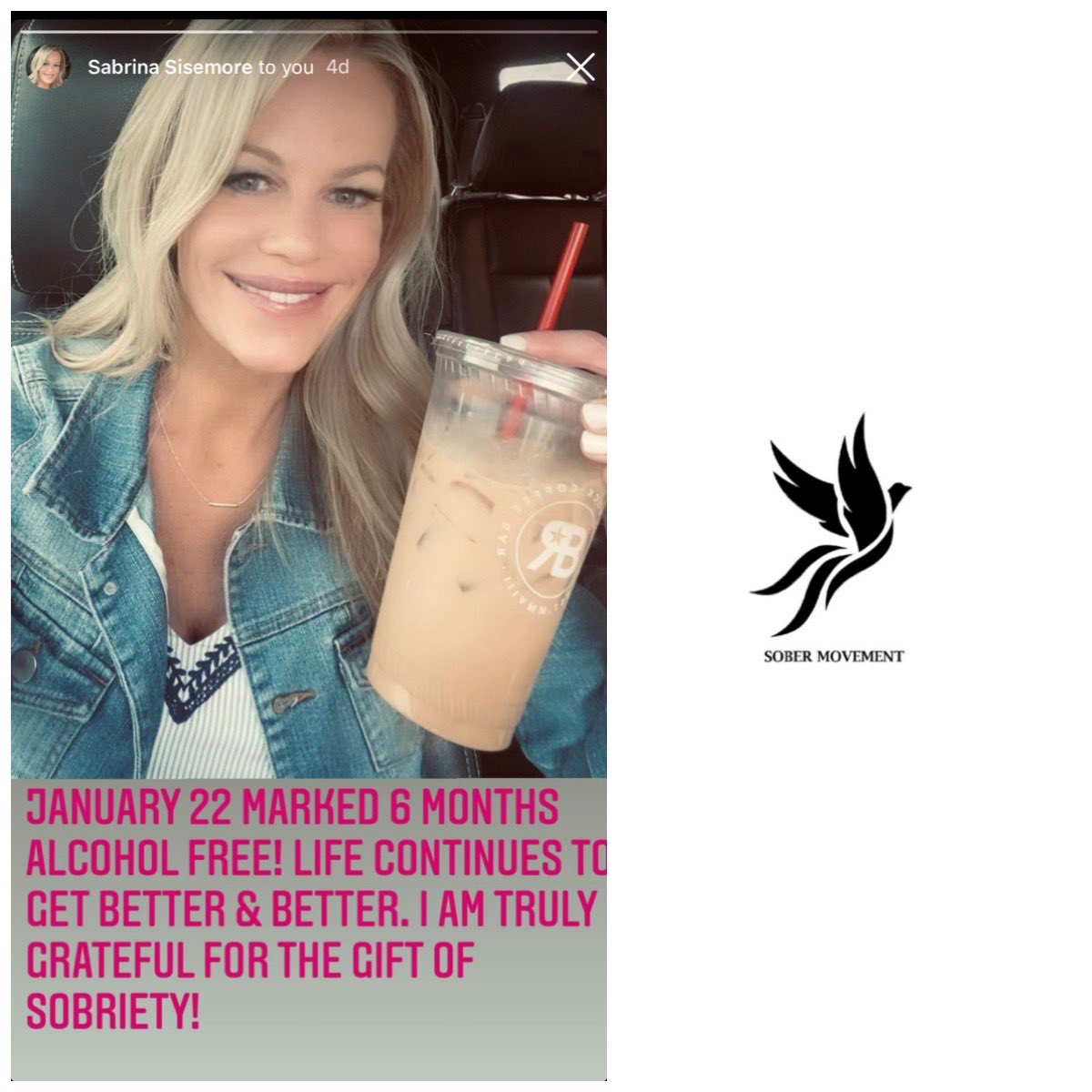 Here is (IG: sabrina_sisemore) with over 7 months clean and sober! Yes we can! #soberMOVEMENT #sober #soberlife #sobriety #soberliving #soberaf #recovery #rehab #drugfree #ODAAT #soberissexy #partysober #cleanandsober #motivation #inspiration #inspire #transformation #hope